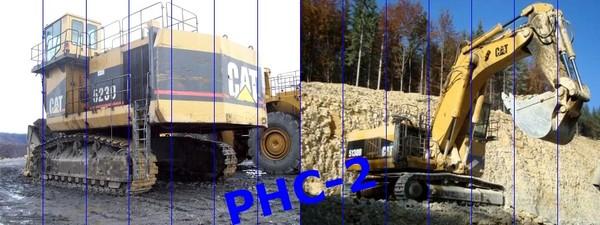 CATERPILLAR 2011-2014: pelles de 125 à 800 tonnes.
