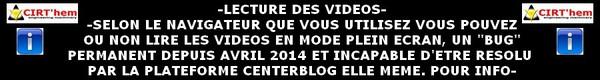 - INFO LECTURE DES VIDEOS PLEIN ECRAN -