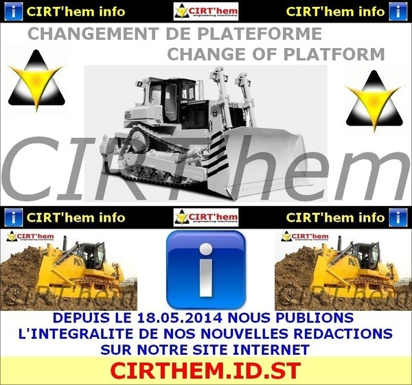 - CHANGEMENT DE PLATEFORME CIRT'hem -